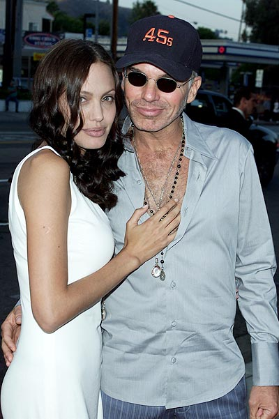 Cast member Angelina Jolie and husband/actor Billy Bob Thornton, arrive for the 'Original Sin' premiere held at DGA Theater in Los Angeles, CA., Tues., July 31, 2001.  (photo by Kevin Winter/Getty Images)