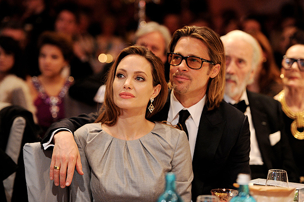 BERLIN, GERMANY - FEBRUARY 13:  Angelina Jolie and Brad Pitt attend the Cinema for Peace Gala ceremony at the Konzerthaus Am Gendarmenmarkt during day five of the 62nd Berlin International Film Festival  on February 13, 2012 in Berlin, Germany.  (Photo by Pascal Le Segretain/Getty Images for Cinema for Peace)