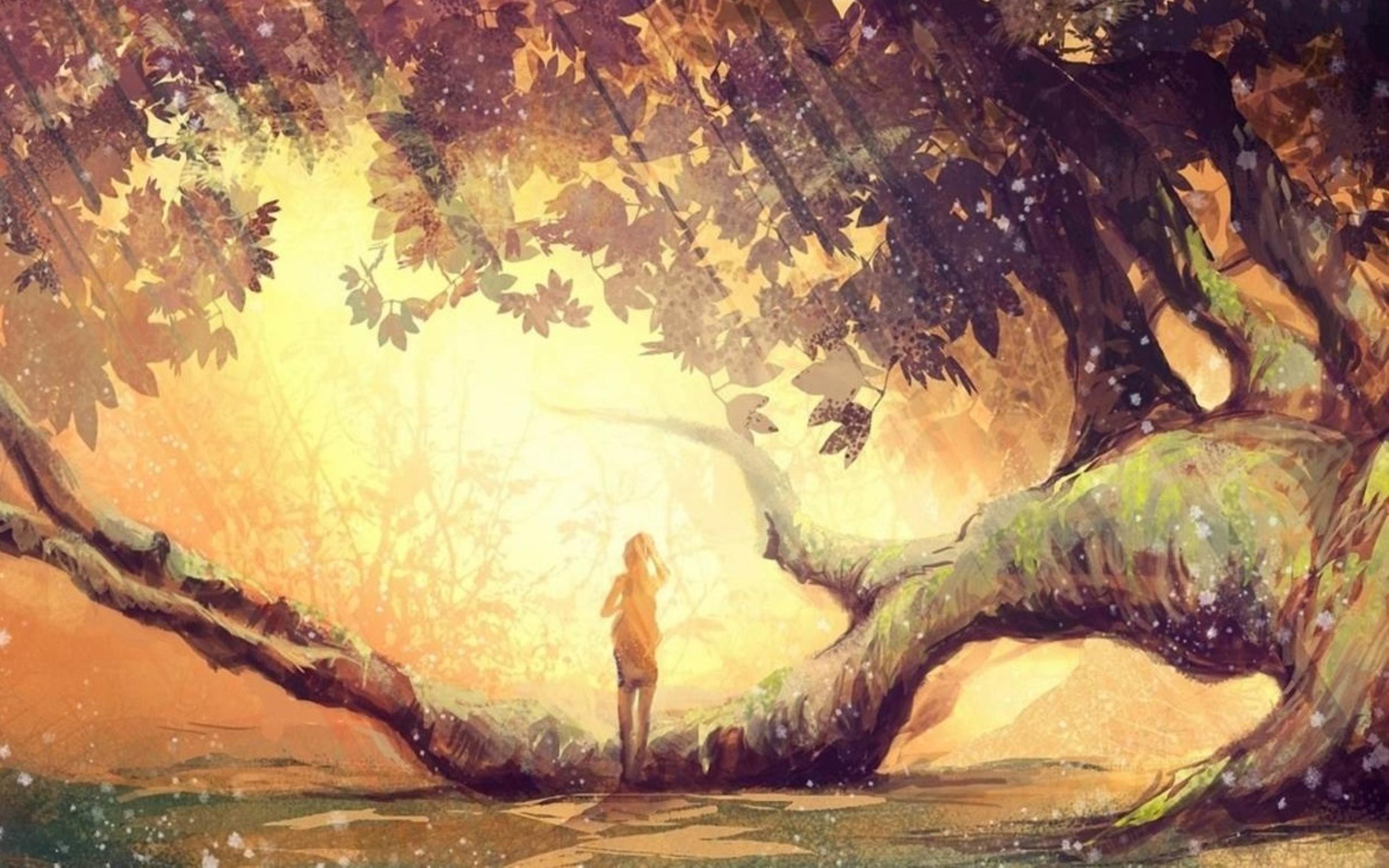 girl-alone-fantasy-art-tree-wallpaper